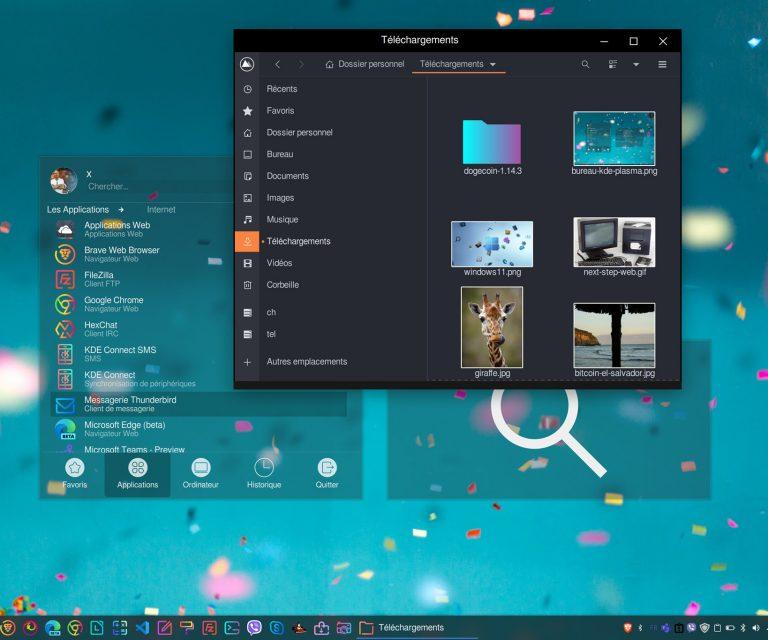 Bureau KDE Plasma sur Linux Mint